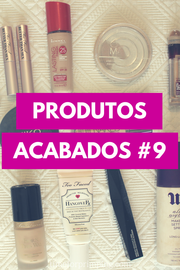 Empties / Produtos Acabados #9 Maquilhagem [Too Faced, Rimmel, Urban Decay, NARS, Maybelline, Kiko] | Beleza | Time for Primping